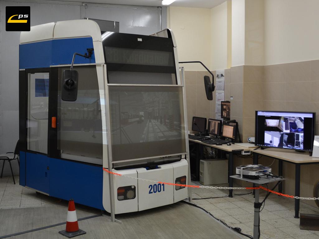Symulator w Instytucie Pojazdów Szynowych PK