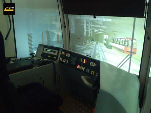 Widok wnętrza kabiny symulatora