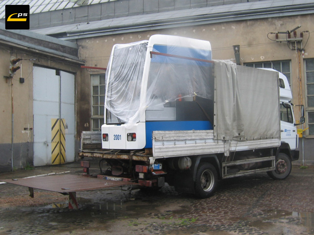 Kabina symulatora podczas transportu
