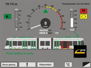 Przykładowy interfejs terminalu diagnostyki