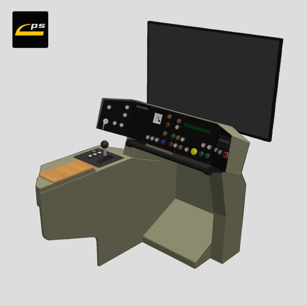 Projekcja scenerii - STANDARD - jeden ekran LCD