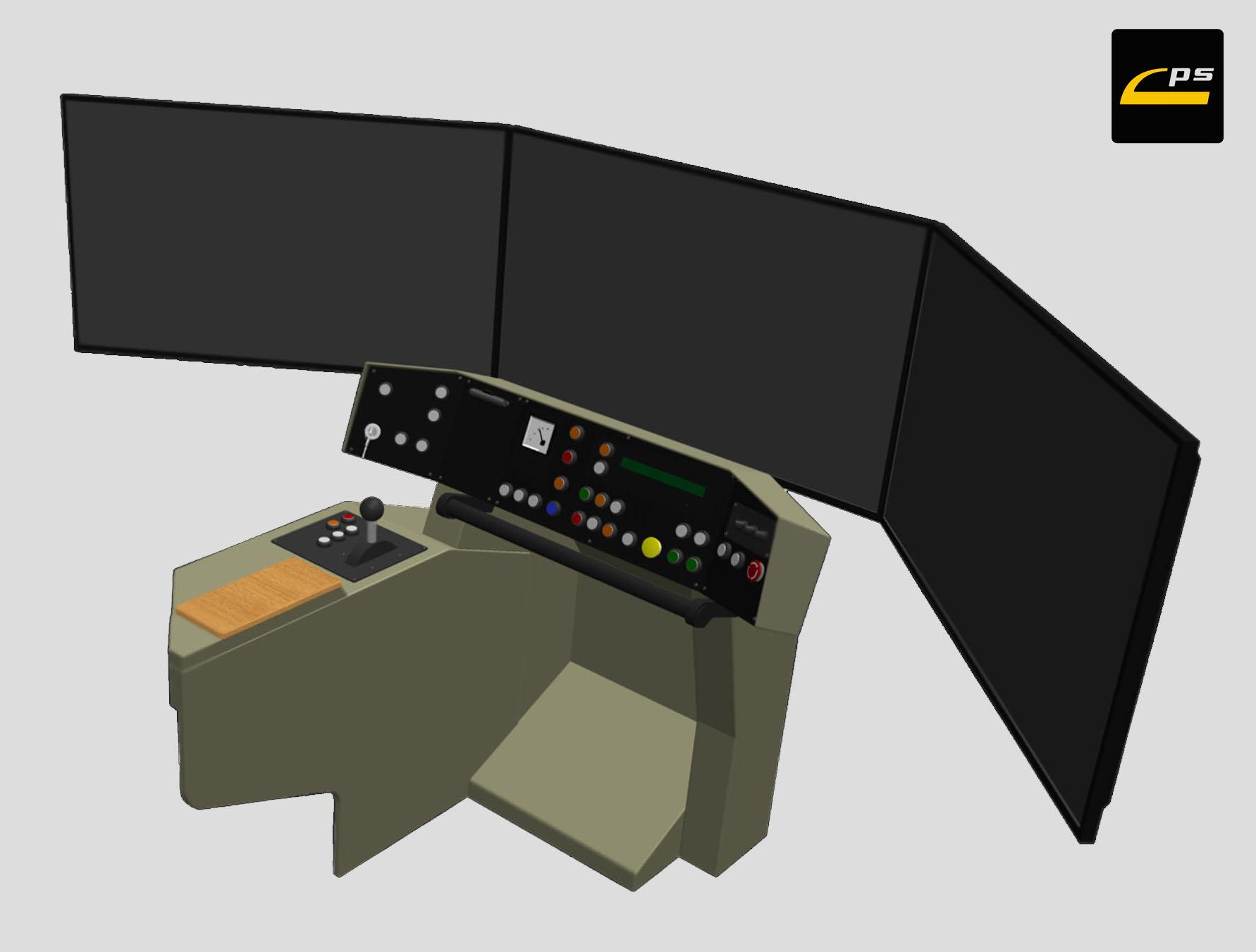 Projekcja scenerii - ADVANCED - trzy ekrany LCD