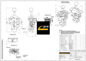 Rysunek wykonawczy wybranego zespołu symulatora PS-TRAM