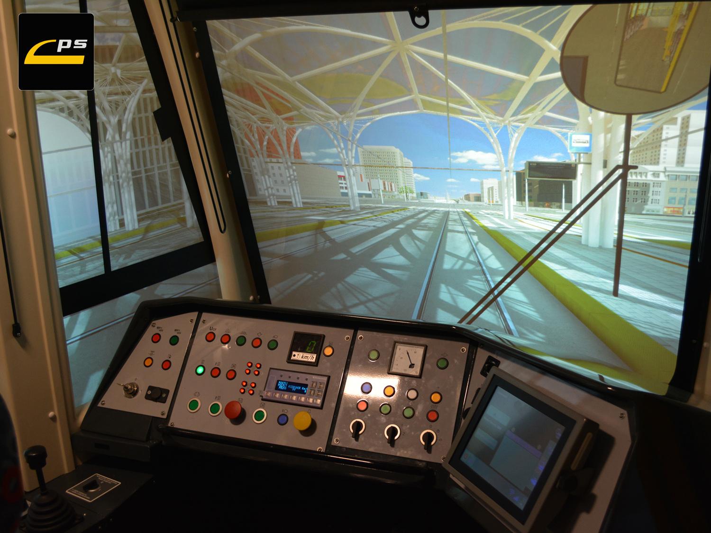 Widok z wnętrza kabiny symulatora