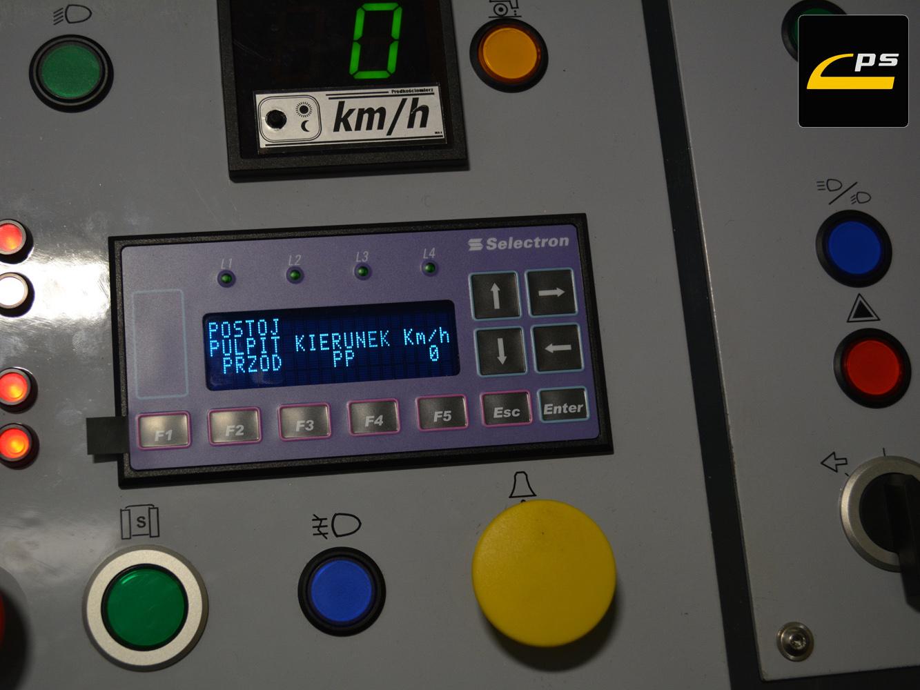 Odzwierciedlenie panelu komputera pokładowego